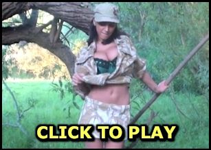 Video of busty Anya Sakova in camouflage