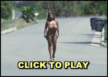 Video of a topless Maserati XXX walking around in public