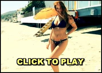 Video of Leanna Decker getting naked at the beach