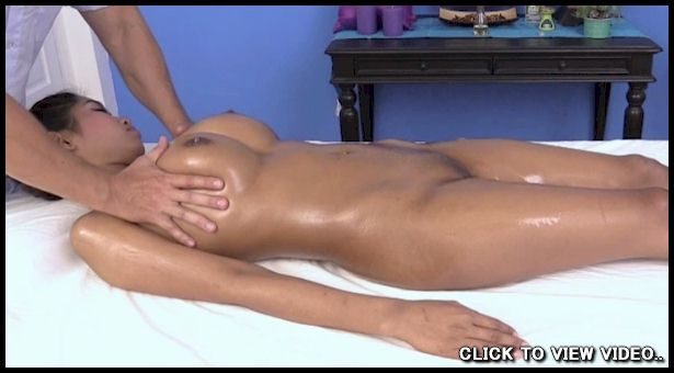 Video of busty Thai babe getting a nude massage