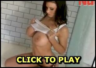 Busty Alice Goodwin gets wet in the shower video