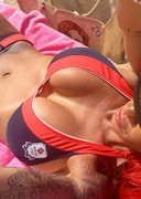 Jodie Marsh in a bikini