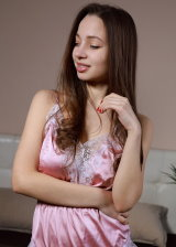 Sexy Pink Silk NightDress