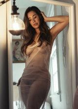 Big Tits Babe In Transparent Dress