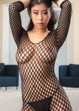 Hot Black Net Dress