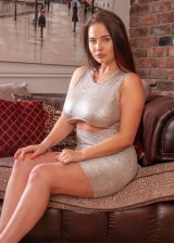 Hot Curves In Tight Dress