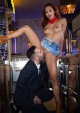 Beautiful Girl Is A Hot Barmaid