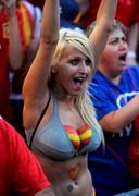 Spanish Soccer Fan Sara Luengo
