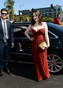 Kat Dennings' Cleavage at the Emmy Awards