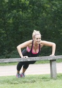 Catherine Tyldesley Working Out in the Park