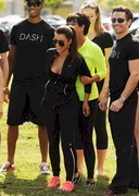Kim Kardashian's Boobs Warm Up for a Boat Race