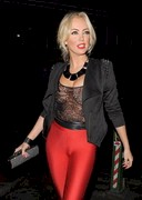 Aisleyne Horgan-Wallace in a See Through Top