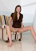 Connie Carter without Panties on a Couch