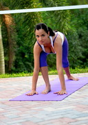 Janessa Brazil doing Yoga