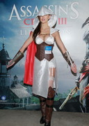 Jessica Cambensy as the Assassin from Assassin Creed III