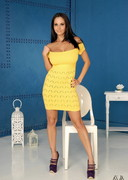 Ava Addams in a Yellow Dress