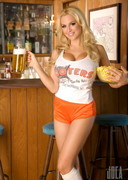 Jordan Carver as a Hooters Girl