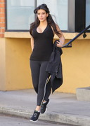 Kim Kardashian is Super Stacked in a Black Top