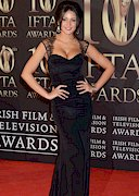 Michelle Keegan Cleavage in a Black Dress
