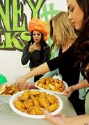 Topless Wing Eating Contest
