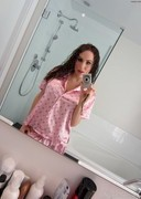 Katie Banks Strip in the Bathroom Mirror