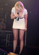 Liz McClarnon Bends Over on Stage