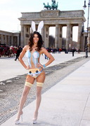 Micaela Schaefer in Body Paint for Easter