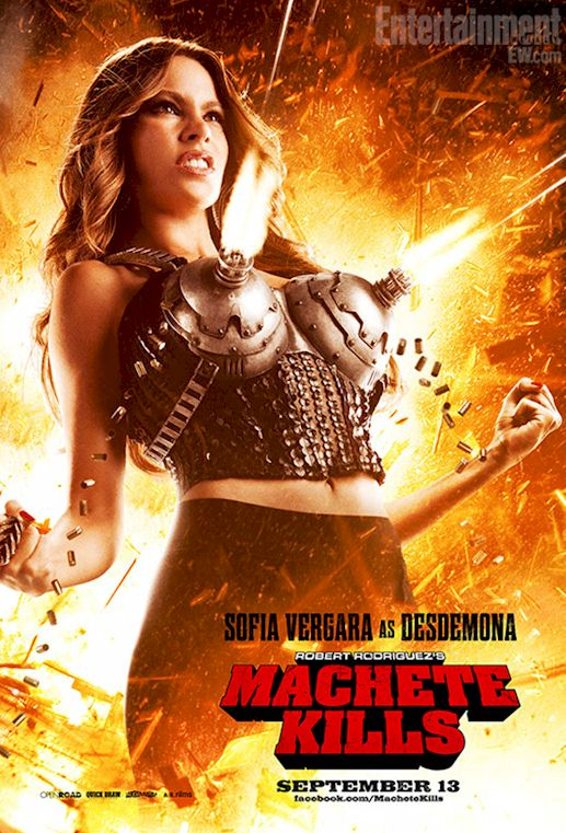 Sofia Vergara's Boobs Shooting Bullets from Machete Kills