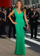 Sofia Vergara Cleavage in a Green Dress