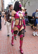 Adrianne Curry is Sexy Mortal Kombat at Comic Con