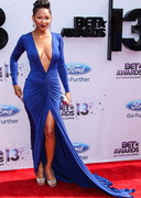 Meagan Good Cleavage and Pokies at the BET Awards!