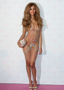 Zahia Dehar Opens Boutique in Sheer Dress!