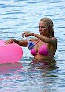 Pamela Anderson is Nipply in a Pink Bikini