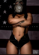 Busty Babe in a Gas Mask