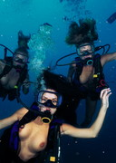 Naked Playmates Diving in Fiji