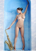 Sofie is Naked with a Saxophone