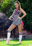 Leanna Decker is a Football Referee