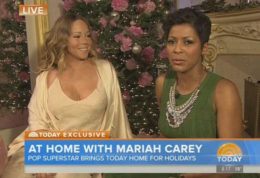 Mariah Carey wore a Negligee on the Today Show