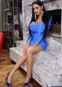Amy Anderssen Strips Out of a Tight Dress