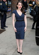 Kat Dennings Cleavage on Letterman