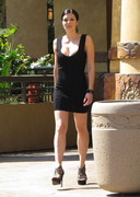 Adrianne Curry Downblouse at Universal Studios