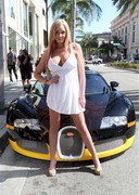 Jenna Bentley Cleavage and a Bugatti