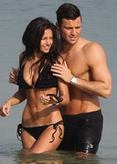 Michelle Keegan in a Black Bikini