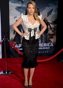 Scarlett Johansson Cleavage at Captain America: The Winter Soldier Premiere