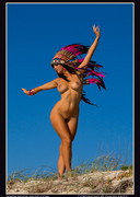 Eden is Nude in a Headdress