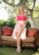 Kelly Madison doing a Dildo Outdoors