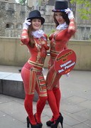 PETA Protesters in Bodypaint at the Tower of London