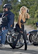 Courtney Stodden on a Harley Davidson!