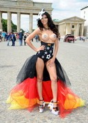 Micaela Schaefer Show Tits to Support Germany!