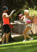 Courtney Stodden Working Out in a Park!